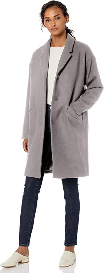 Daily Ritual Amazon Brand Women's Oversized Wool Blend Cocoon Coat