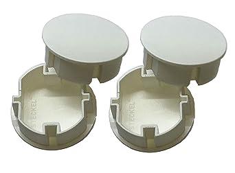 4 Stück STECKEL Staubschutz Deckel Steckdosendeckel Abdeckung für saubere Schuko-Steckdosen Steckdosenleisten Mehrfachsteckdo