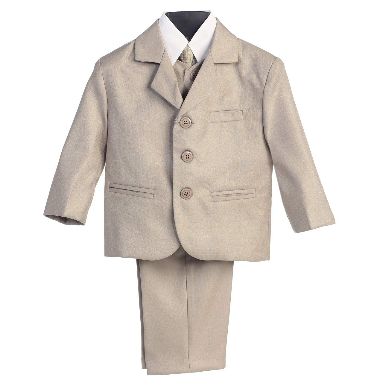 Baby Boy Khaki Formal Special Occasion 5pc Suit Set 12M by Lito