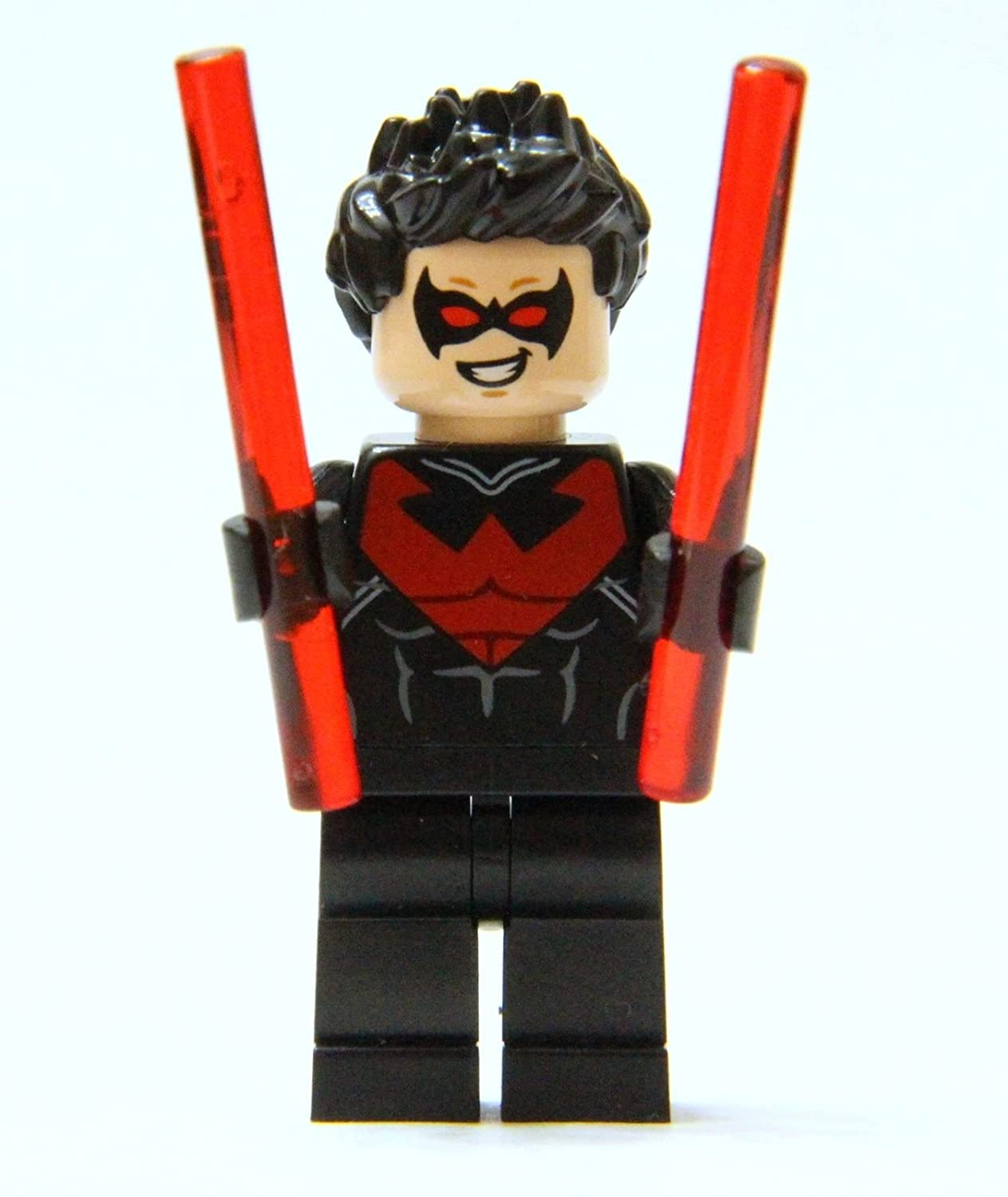 Amazoncom LEGO Nightwing minifigure Red Version  includes 2