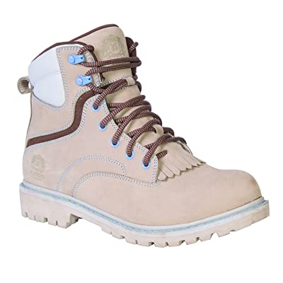 """KING'S 6"""" Leather Steel Toe Women's Work Boots with Goodyear Welt (KWLK01): Home Improvement"""