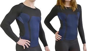 06863dae10c5b9 normani Sport Funktionswäsche für Damen und Herren - Ski Unterwäsche mit  Elasthan Farbe Hemd Schwarz