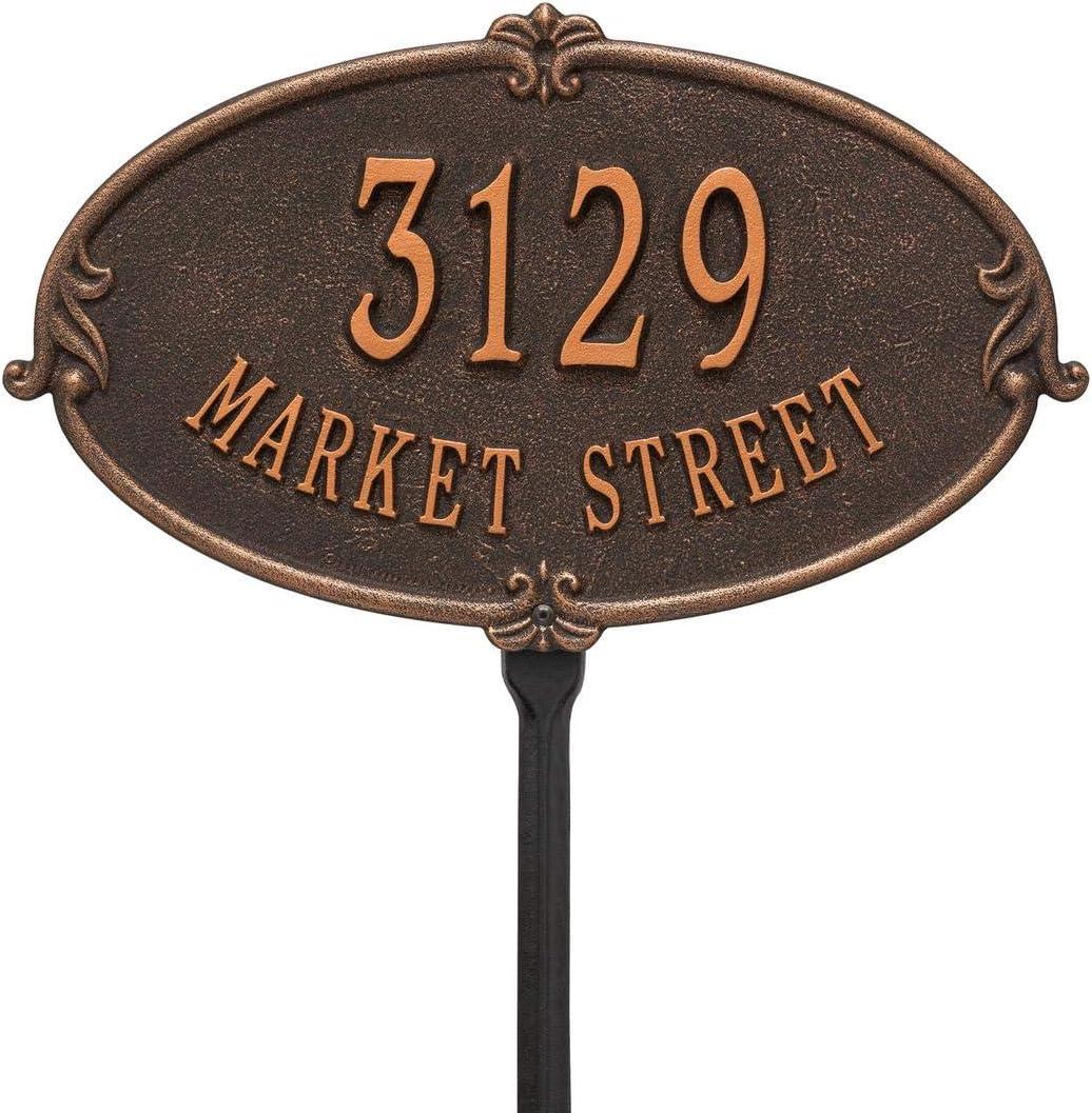 2 Line in Oil Rubbed Bronze 16X9.75X.375 Standard Lawn Whitehall 3117OB Personalized Montecarlo Plaque