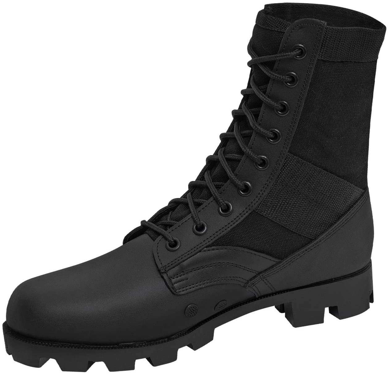 JUNGLE PATROL COMBAT BOOTS BLACK GREEN DESERT ARMY MILITARY LEATHER NYLON SUEDE