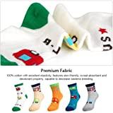 Kids Boys' Fashion Cotton Crew Socks, Unisex Casual