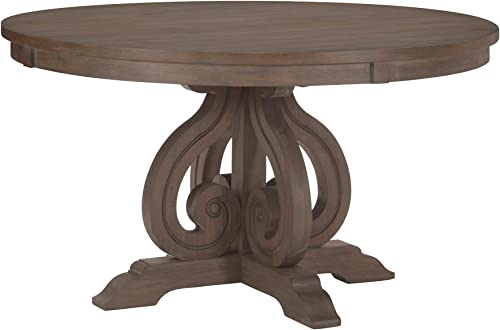 Homelegance 54 Round Dining Table, Dark Pewter