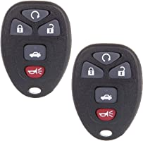 SCITOO Keyless Entry Remote Fob 2X 5 Button Replacement fit for Chevrolet Cobalt Chevrolet Malibu Pontiac G5 Pontiac G6...
