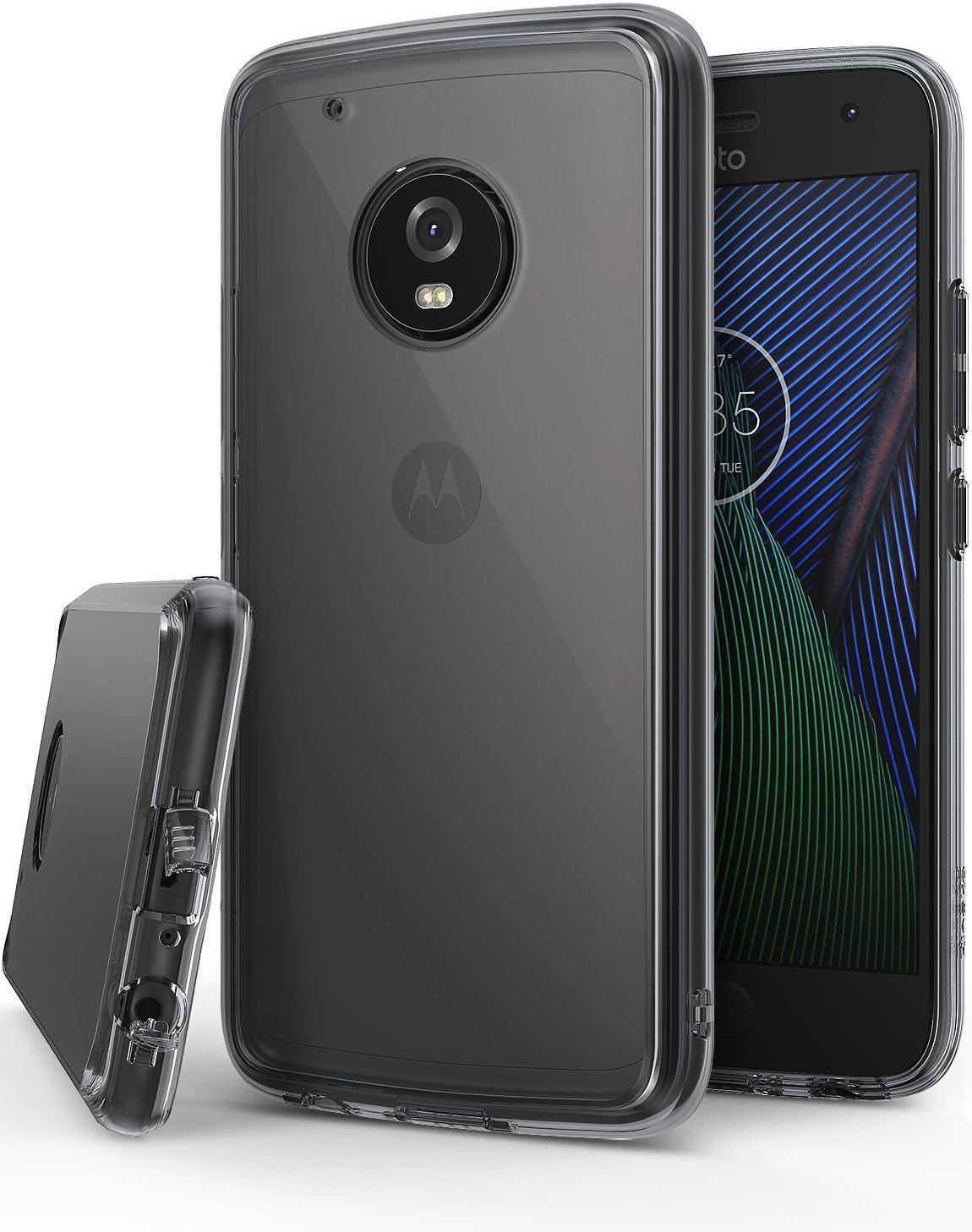 Ringke Funda para Motorola Moto G5 Plus, [Fusion] Protector de TPU con Parte Posterior Transparente de PC Caso Protectora biselada para Motorola Moto G5+ - Negro Humo Smoke Black
