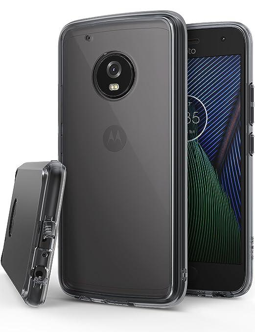 6 opinioni per Cover Moto G5 Plus, Ringke [FUSION] Retro Trasparente Respingente in TPU