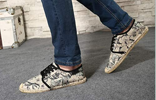 Amazon.com | ONCEFIRST Mens Sneaker Casual Loafer Espadrilles Flat Canvas Shoes | Fashion Sneakers
