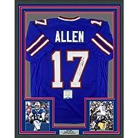 $799 » Framed Autographed/Signed Josh Allen 33x42 Buffalo Blue Football Jersey Beckett BAS COA