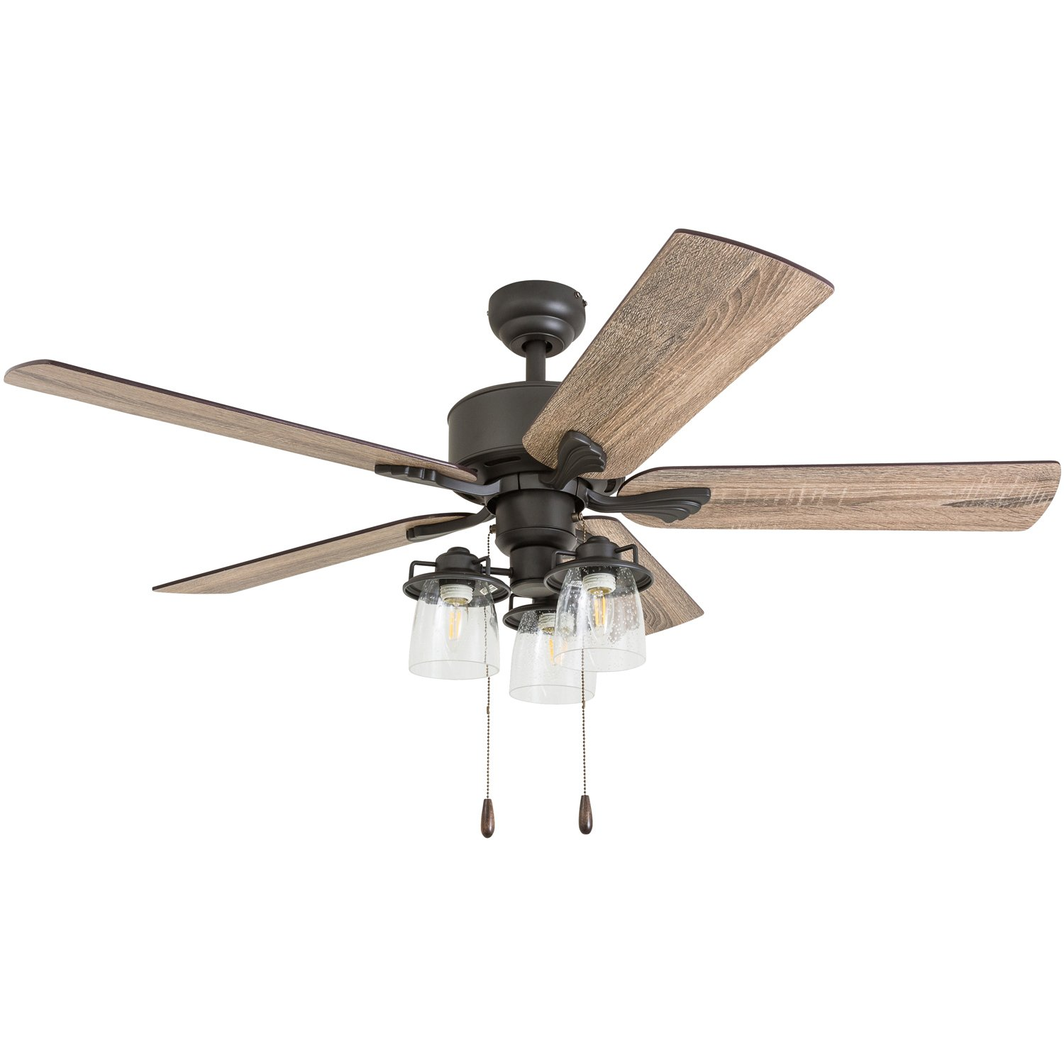 Prominence Home 50683 01 River Run Farmhouse Ceiling Fan 3 Sd Remote 52 Barnwood Tumbleweed Aged Bronze Com
