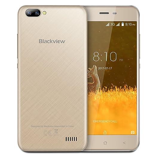 5 opinioni per Blackview A7 Smartphone, 5.0 Pollici Display Android 7.0 3G Telefono Cellulare,