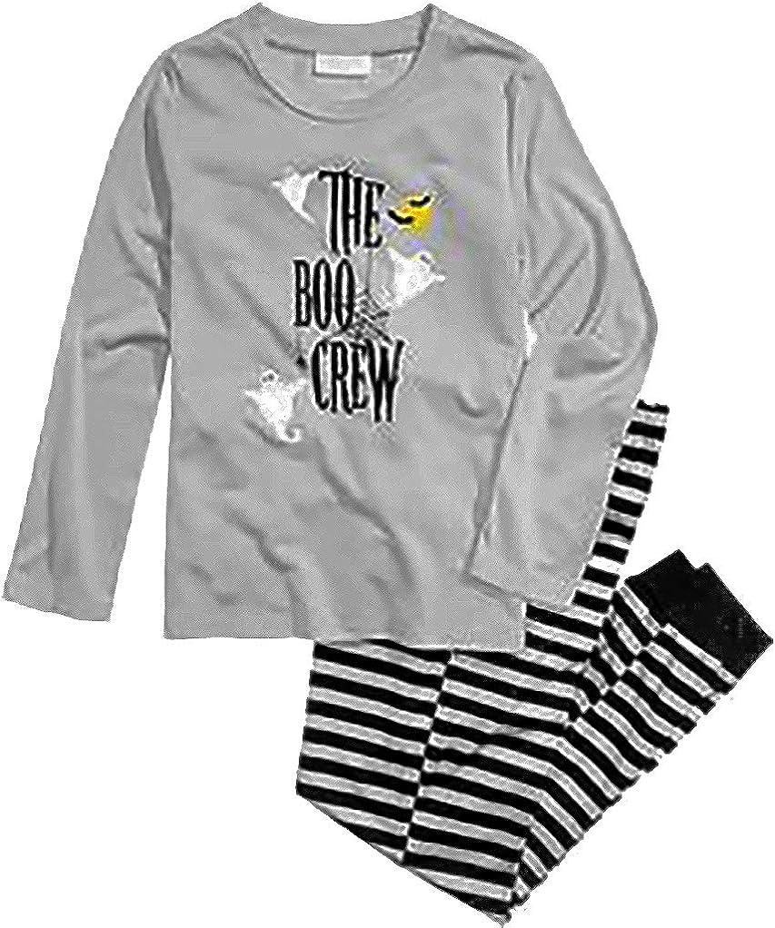 Family Pajamas Big Boys and Girls Boo Crew Knit Pajama Set