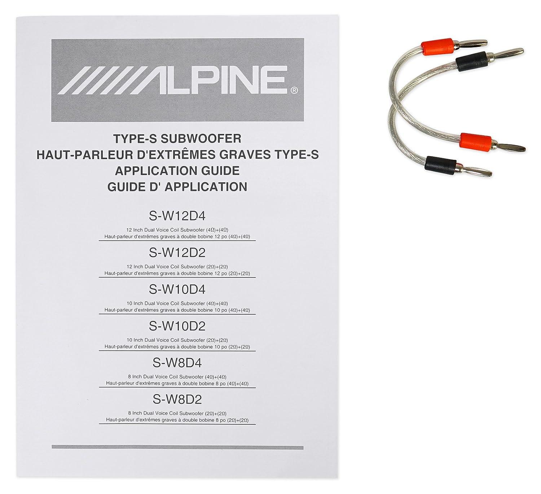 Alpine S-W12D2 S-Series 12 Dual 2-Ohm Subwoofer