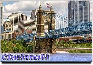 Cincinnati Fridge Magnet Ohio Travel Souvenir