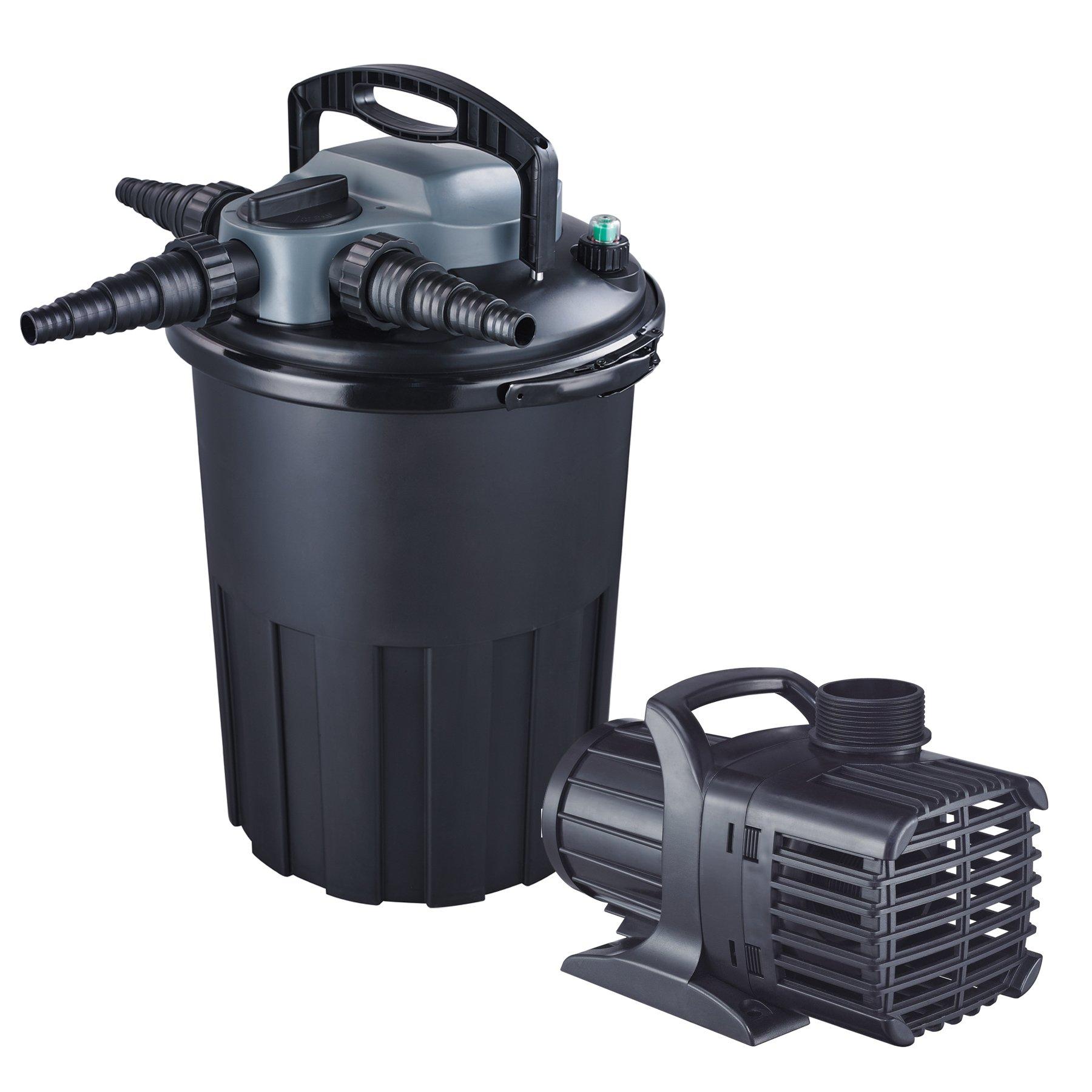Jebao CBF-15000 36-watt UVC Bio Pressure Pond Filter with 3000GPH Pump, Up to 4000 gallon
