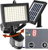 Robust Solar 80 LED Outdoor Solar Motion Light, Digitally Adjustable Time & LUX, 2-axis Adjustable Motion Sensor with Lithium Battery