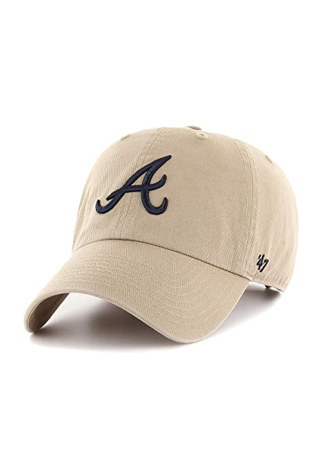 47 Brand MLB Atlanta Braves - Gorra, color caqui y beige: Amazon ...