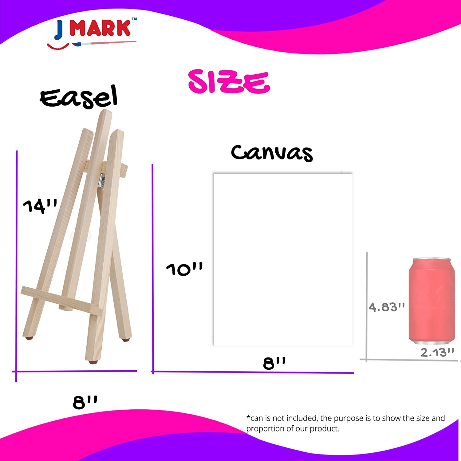 1 Scratch Free Paint Easel 6 Pre-Stenciled Canvases 8 x 10 inches 5 Brushes 10 Well Palette 28 Piece Acrylic Painting Supplies Kit with Storage Bag Kids Art Set for Girls 12 Washable Paints