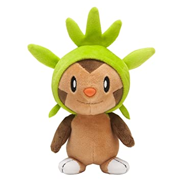 Pokemon Center Japan Chespin/Harimaron Stuffed Plush Dolls, 6""