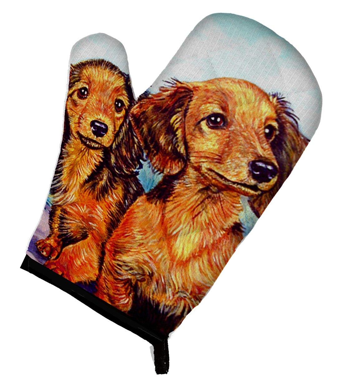 Caroline's Treasures 7022OVMT Long Hair Red Dachshund Two Peas Oven Mitt, Large, multicolor