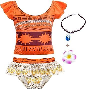 Baby Girls Princess Adventure Bathing Suit Halter Bikini Sets Swimsuit Swimwear Fancy Dress Costume