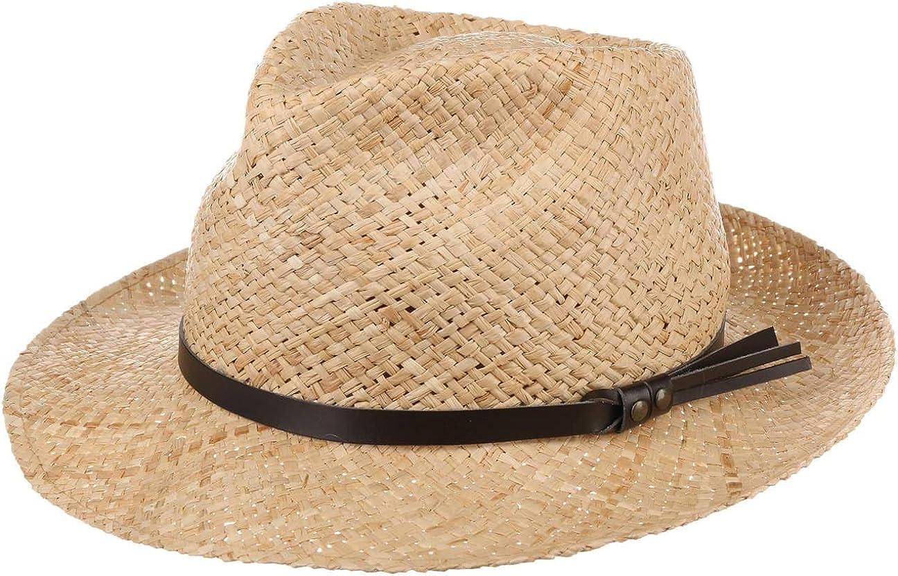 Lipodo Sombrero de Paja Delamo Hombre - Made in Italy Sol Verano Primavera/Verano