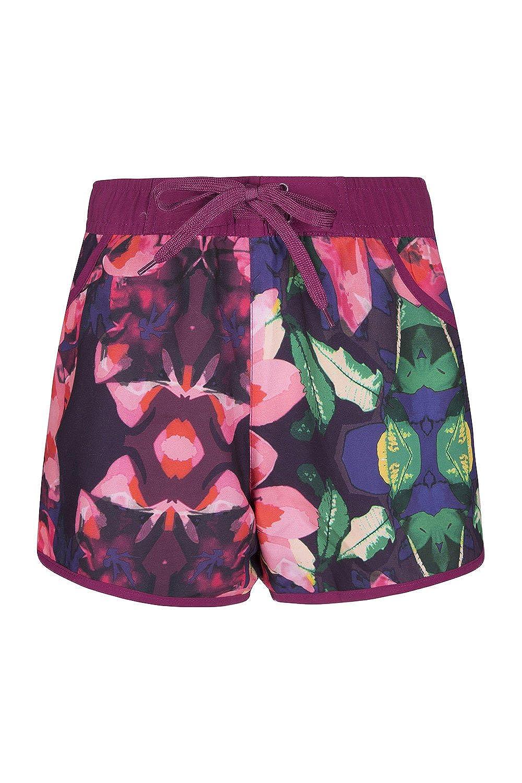 Mountain Warehouse Pantaloncini da Womens Fantasia - Easy Care Signore Swim Shorts, Regolabile Waist Beach Shorts, Pantaloni Corti di Lightweight - per Surfing