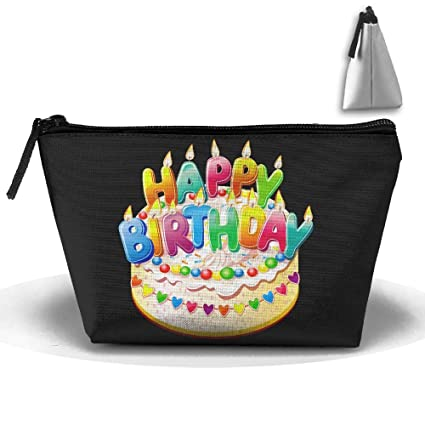 Amazon.com: HTSS Happy Birthday Cake Portable Makeup Receive Bag Storage Large Capacity Bags Hand Bag Travel Wash Bag For Travel With Hanging Zipper: Home & ...