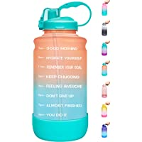 $20 » Elvira Large 1 Gallon/128 oz Motivational Time Marker Water Bottle with Straw & Protective…