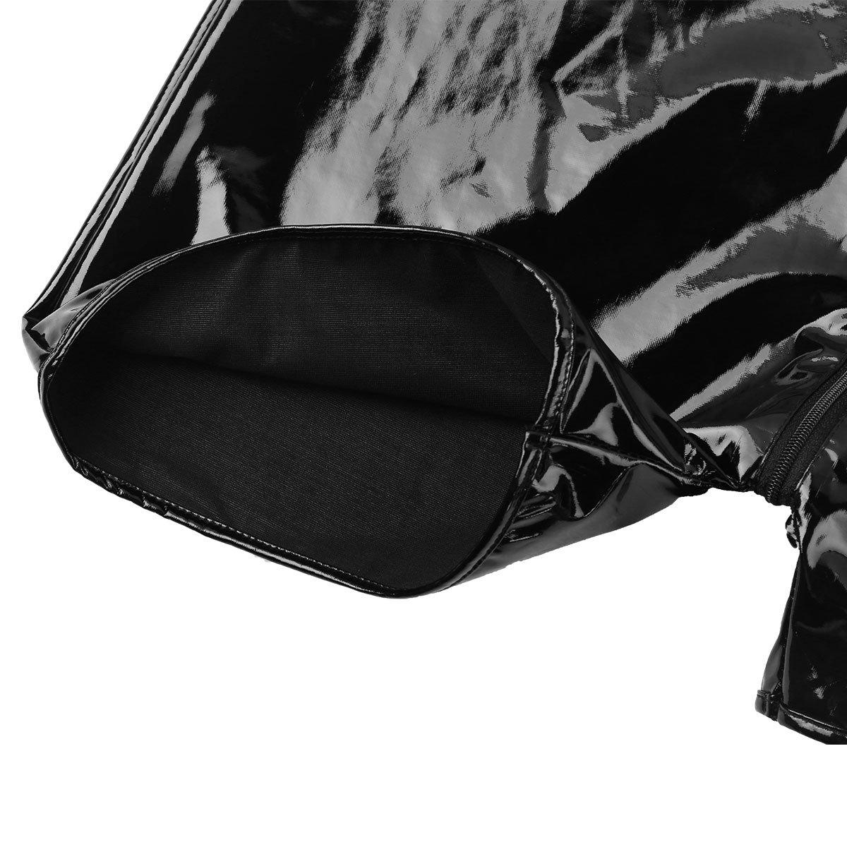 Vêtements de sport Freebily Débardeur Homme Body Bodysuit sous-Vêtement Cuir Maillot de Bain Plage sans Manches Short Combinaison Collant de Sport Fitness Clubwear M-2XL
