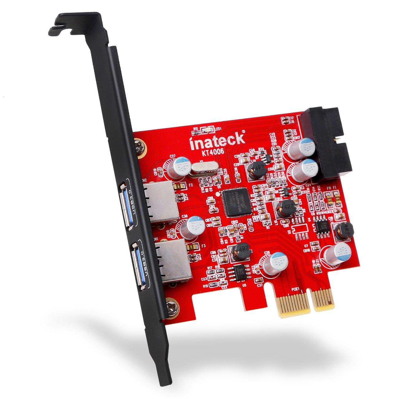Tarjeta Inateck Pci-e Usb 3.0 Express De 2 Puertos, Mini Pci-e Adaptador De Controlador De Concentrador Usb 3.0 Con Cone