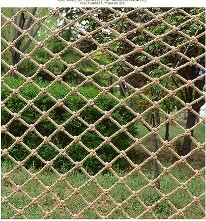 Red de soga de jardín red de seguridad red de carg Cuerda del cáñamo rejilla decoración