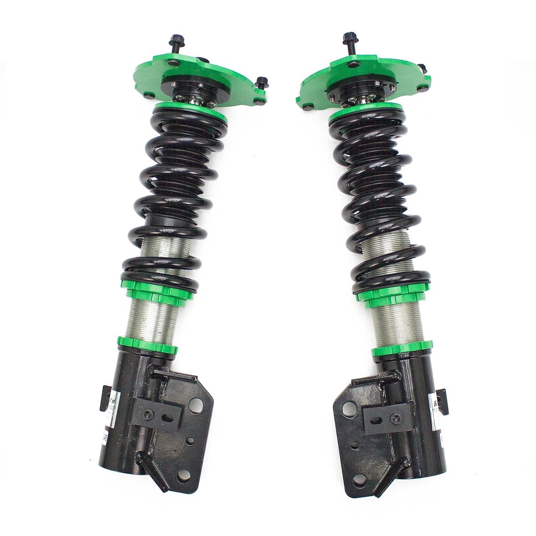 Mono-Tube Shock w// 32 Click Rebound Setting Rev9 R9-HS2-045 Hyper-Street II Coilover Suspension Lowering Kit Full Length Adjustable