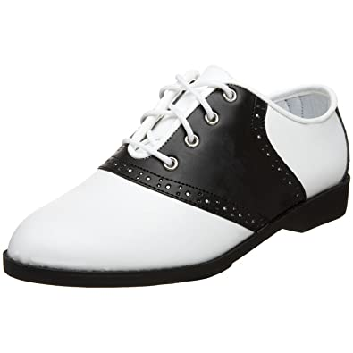 1af7985fa0850 Pleaser Ladies Saddle Shoes 1950's Costume Shoes 1950's Saddle Shoes  White/Black