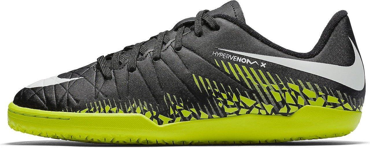 Black Volt Hypervenom Phelon II IC Indoor Soccer Shoe SZ. 1.5Y NIKE Kids Jr