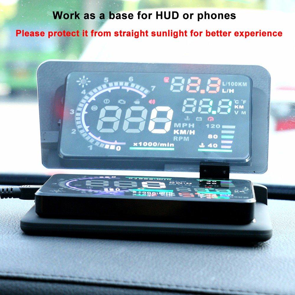 /bysameyee Soporte Universal de Coche Dash Mount tel/éfono Celular Reflectante pel/ícula veh/ículo HUD Soporte de Smartphone para iPhone tel/éfonos Android Head-Up Display GPS navegaci/ón/