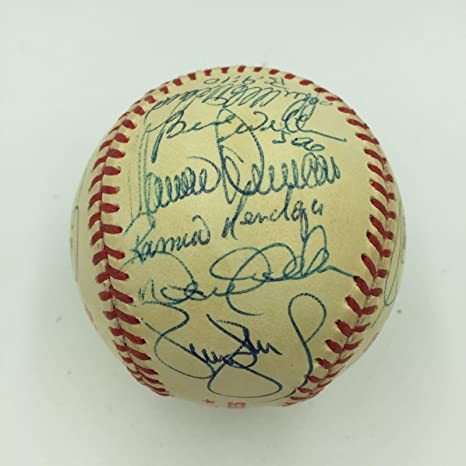 7dcb0269f4f Image Unavailable. Image not available for. Color  1996 New York Yankees  Team Signed World Series Baseball Derek Jeter ...