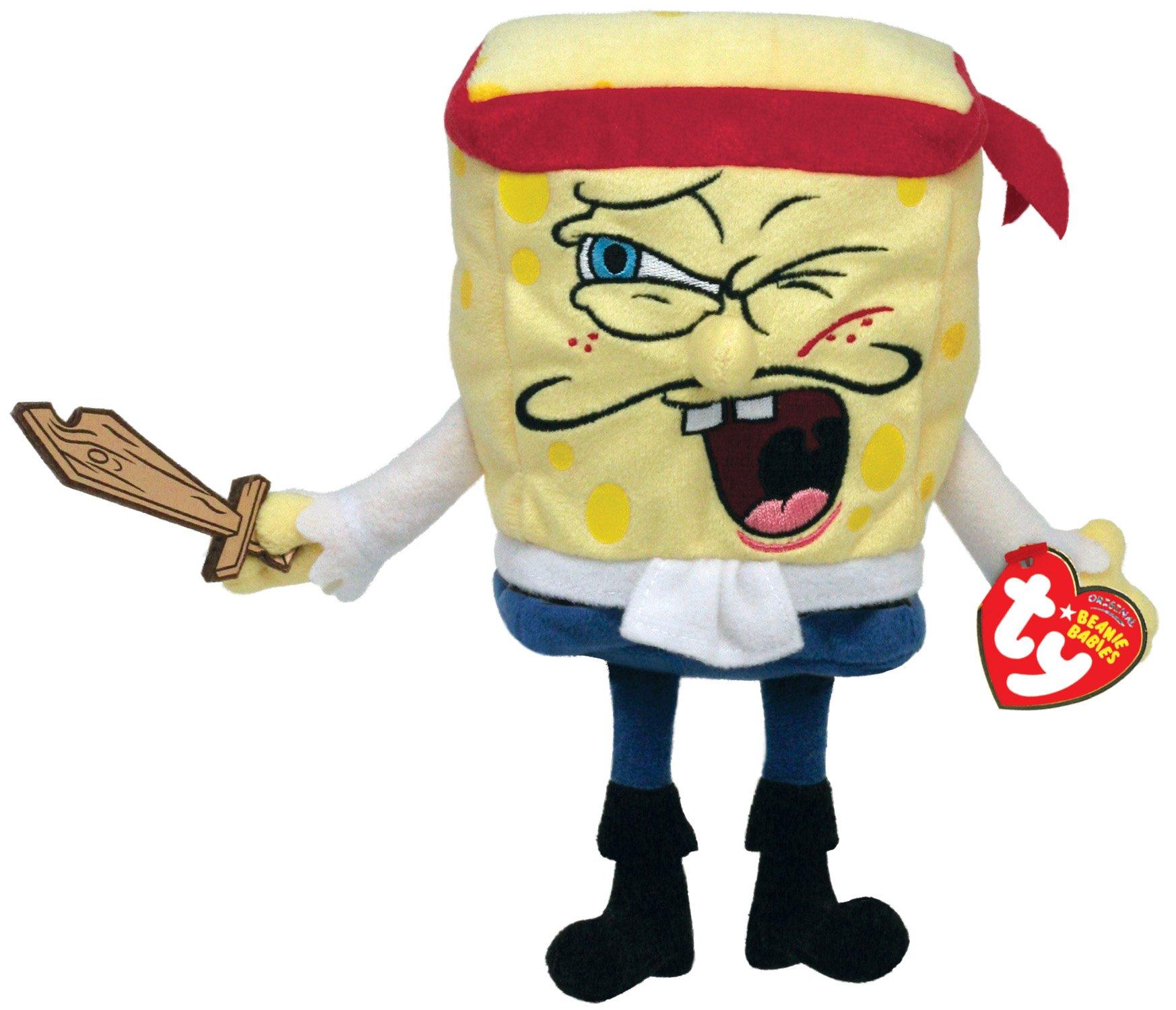 TY Beanie Baby Captain SpongeBob by Nickelodeon