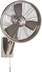"""Minka-Aire F307-BN, Anywhere 16"""" Oscillating Ceiling Fan, Brushed Nickel Finish with Silver Blades"""
