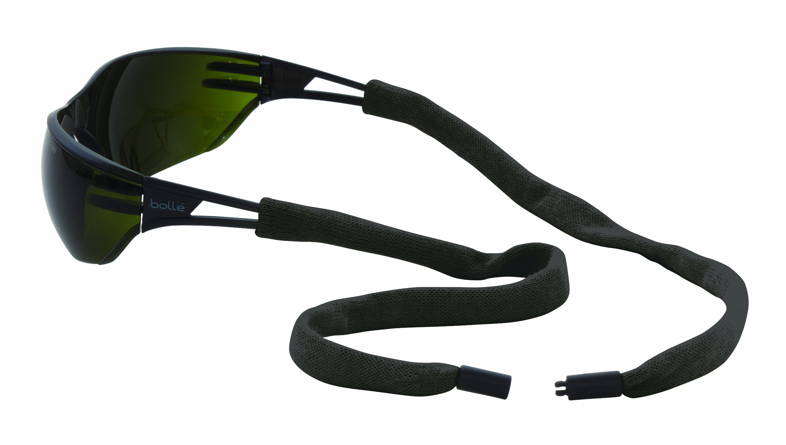 Chums Safety 13002100k Flame Resistant Kevlar Eyewear Retainer with Single Breakaway, Black (Pack of 6) by Chums