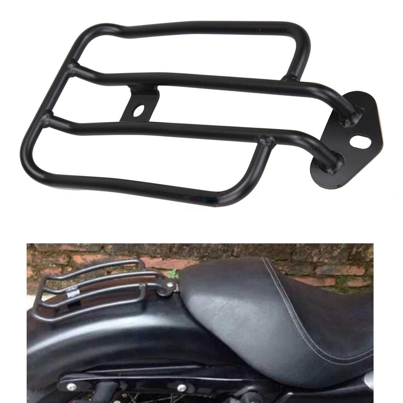 Ambiente Noir Moto Porte-bagages Solo Siège plaqué or bagages Étagère pour Harley Sportster XL 883120077–007377–0073de B Ambienceo