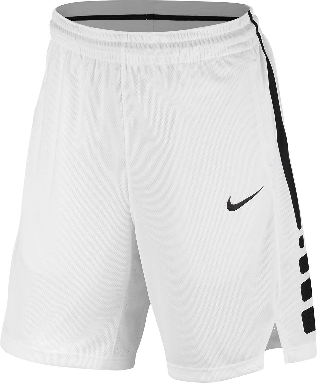 ナイキ ボトムス ハーフ&ショーツ Nike Men's Elite Stripe Basketball Short WhiteBlack [並行輸入品] B07GJZ3Q3Y Small