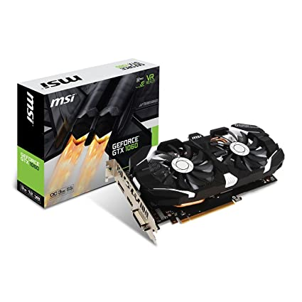 MSI GEFORCE GTX 1060 3GT OC - Tarjeta gráfica Nvidia GeForce GTX 1060 de 3 GB, color Negro