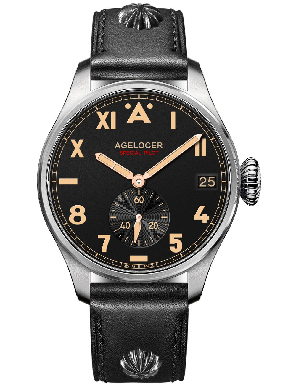 Agelocer wrist watches men automatic stainless steel classic