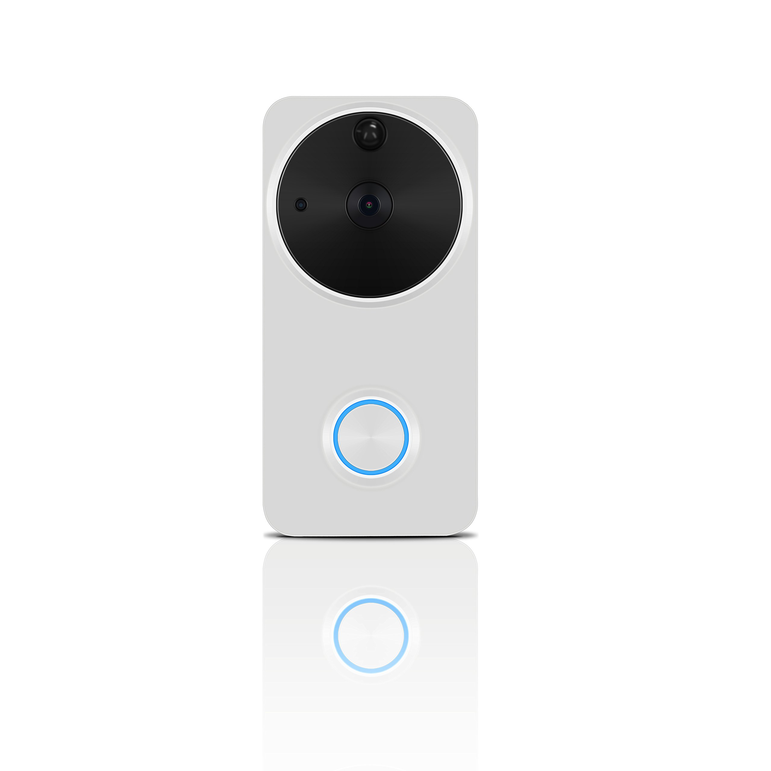 Video Doorbell Wireless - HEIHEI WiFi Smart Door Bell Kit, 720P HD Video, 2-Way Audio, Motion Detection, IR Night Version, Waterproof Home Camera W/2-Battery Built in 16G Card for IOS/Android - White by HEIHEI (Image #9)