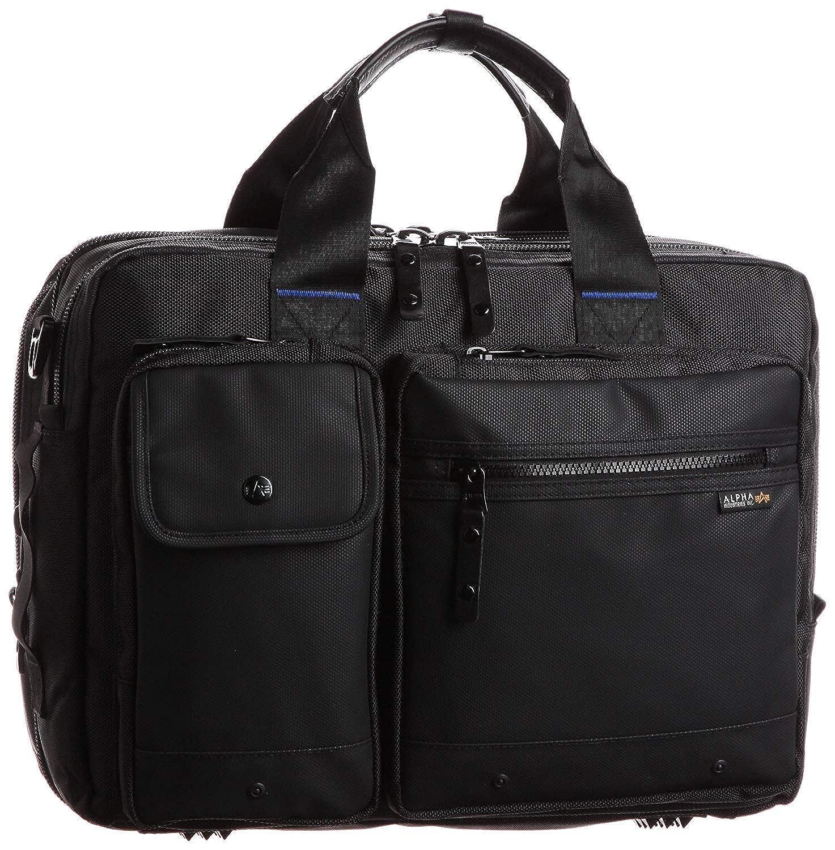 [アルファインダストリーズ] ビジネスバッグ 3way 大容量 CBブルーライン 3way ラウンド型 ビジネスバッグ (M) 4724 B07Q81YNS9 ブラック