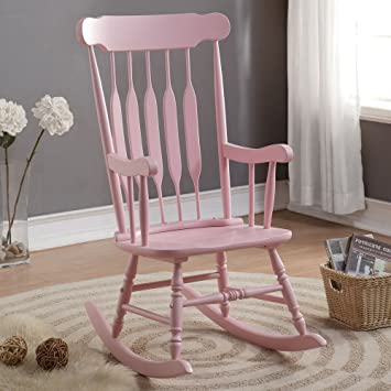 Marvelous Coaster Rocking Chair In Pastel Pink