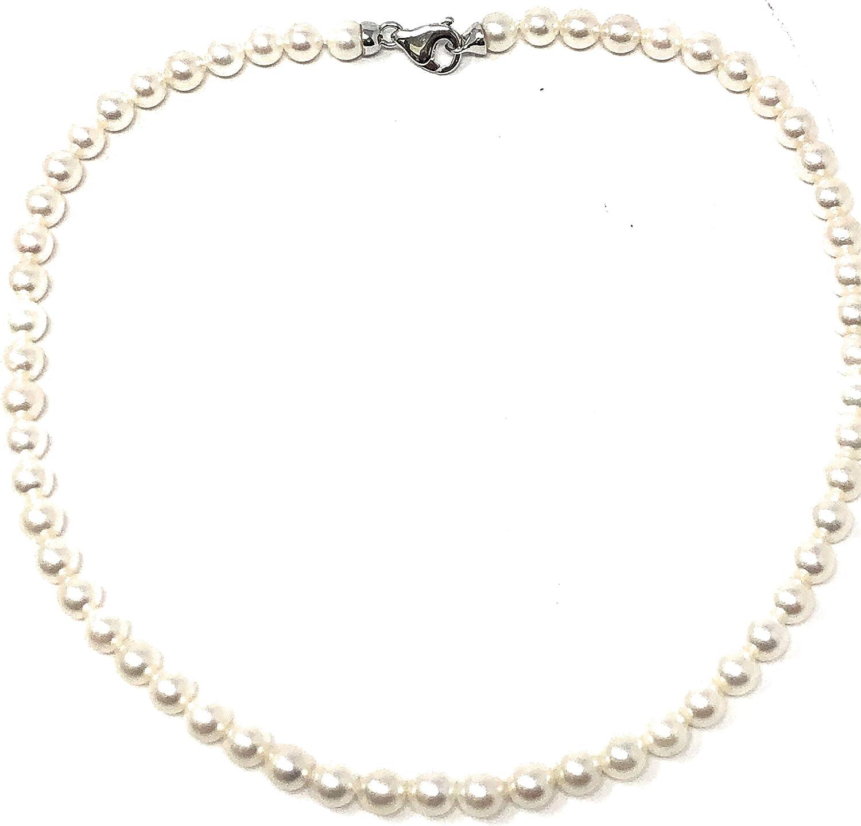 Collar de perlas japonesas AKOYA con cierre de plata 925 y perlas de diámetro 6 1/2-7 mm
